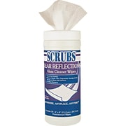 Scrubs® Clear Reflections Cloth Glass Cleaner Wipe, 6 Tubs/Case