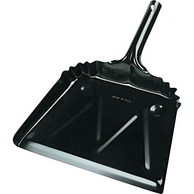 Unisan Metal Dust Pan, Black, 12in.(W)