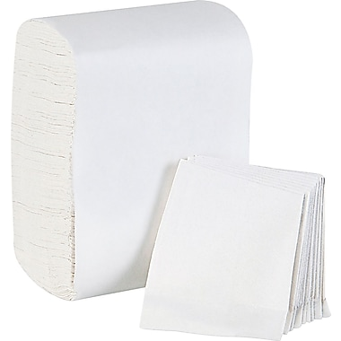 TidyNap ® Low Fold Paper Dispenser Napkin, 1-Ply, White, 8000/Case