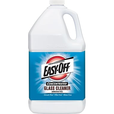 Easy-Off  Concentrated Glass Cleaner, Odorless, 1 gal Bottle