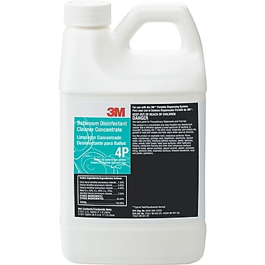 3M Bathroom Disinfectant Cleaner Concentrate, Unscented, 1.9 Liters Bottle