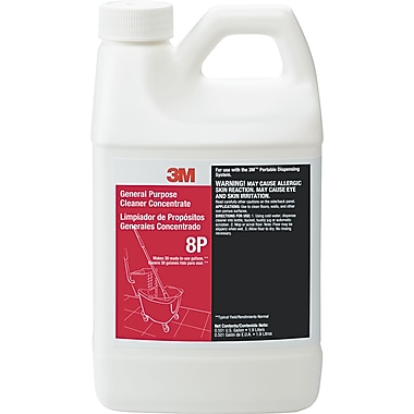 3M General Purpose Cleaner Concentrate 8P, Citrus, 1.9 Liters, 6/Case