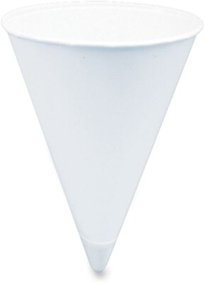 Solo  Cone Shaped Paper Water Cup, 4 oz., White, 5000/Carton 815468