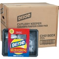 Dixie® Cutlery Keeper Tray with Heavyweight Crystal Plastic Tableware, 1800/Carton
