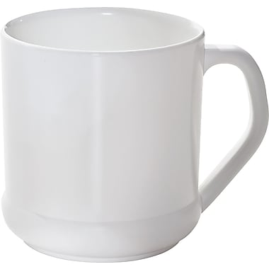 NatureHouse® CPLA Corn Plastic Reusable Coffee Mug, 10 oz., White