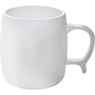 NatureHouse® White CPLA Corn Plastic Reusable Coffee Mugs