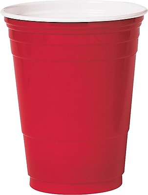 SOLO Plastic Cold Party Cup, 16 oz., Red, 1000/Carton 915897