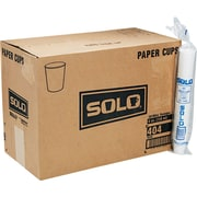 Solo® Paper Water Cup, 4 oz., White, 5000/Carton