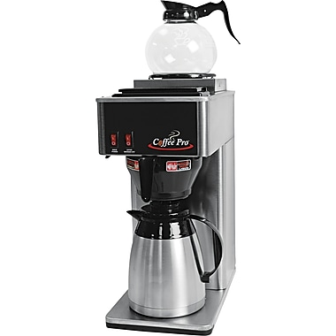 Coffee Pro ® 24 Cup Thermal Institutional Coffee Brewer, Stainless Steel