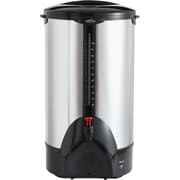 "Coffee Pro ® 100 Cup Plastic Handle Percolating Coffee Urn, 13 1/2""(Dia) x 23""(H), Stainless Steel"