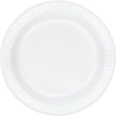 Dart ® Concorde ® Non-Laminated Round Foam Plate, 10 1/4in.(Dia), White, 500/Carton