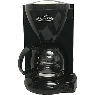 Coffee Pro ® 4 Cup Personal Home/Office Coffee Brewer, Black