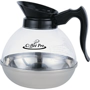 Coffee Pro ® 12 Cup Unbreakable Regular Coffee Decanter, Stainless Steel/Polycarbonate