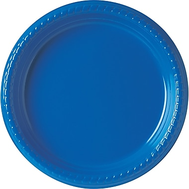 Solo® Plastic Party Plate, 9in., Blue, 500/Carton