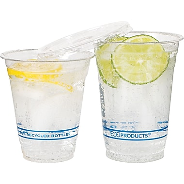 Eco-Products® Recycled Content Plastic Cold Cup, 16 oz., Clear, 1000/Carton