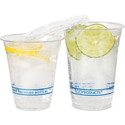 Eco-Products® Recycled Content Plastic Cold Cup, 12 oz., Clear, 1000/Carton