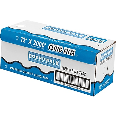 Boardwalk® Plastic Food Wrap Film, 12in.(W) x 2000'(L), Clear