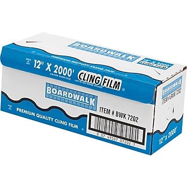 Boardwalk® Plastic Food Wrap Film, 12in.(W) x 2000'(L), Clear