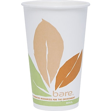 Solo® Bare™ Eco-Forward™ Compostable PLA Paper Hot Cup, 16 oz., 300/Carton
