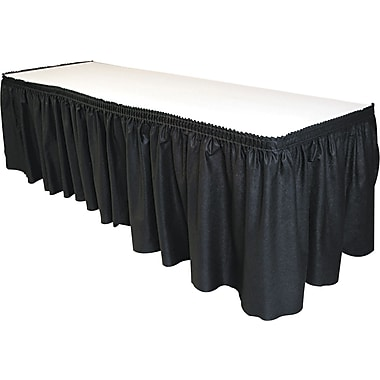 Tablemate® Table Set® Fabric Table Skirtings, 14' L x 29in. W