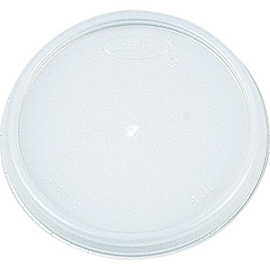 Dart ® Plastic Vented Lid for 12 oz. Hot/Cold Foam Cups, White, 1000/Carton