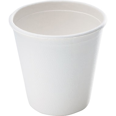 NatureHouse® Bagasse Hot Cup, 12 oz., White, 50/Pack