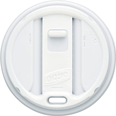 Dixie Smart Top White Reclosable Lid for 12oz and 16oz Hot Cups, 1000/Carton (TP9542) 806560