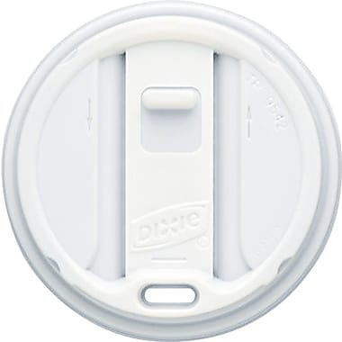 Dixie ® Smart Top ® Reclosable Lid for 12 and 16 oz. Hot Cups, White, 1000/Carton