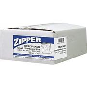 "Handi-Bag ® Recloseable Zipper Seal Sandwich Bag, 5 7/8""(H) x 6 1/2""(W), Clear, 500/Carton"