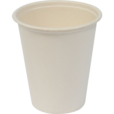 Baumgartens Conserve® Sugar Cane Hot Cup, 8 oz., White, 50/Pack