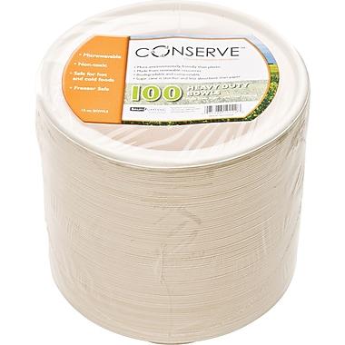 Baumgartens Conserve® Sugarcane Fiber Bowl, 12 oz., White, 100/Pack