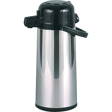 Hormel Commercial Grade Airpot with Pushbutton Pump, 2.2 Liters, Stainless Steel