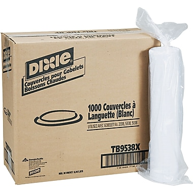 Dixie  Plastic Lid for Dixie Sage  Collection 8 oz. Hot Drink Cups, White, 1000/Carton