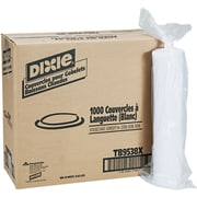 Dixie Plastic Lid for Dixie Sage Collection 8oz Hot Drink Cups, White, 1000/Carton (TB9538X)