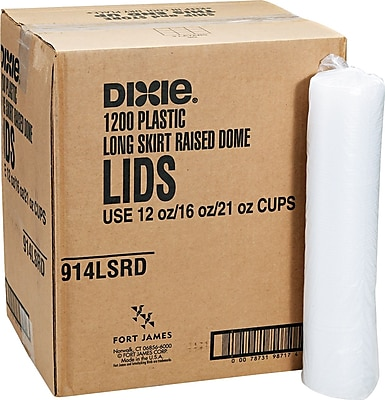 Dixie  Plastic Lid for Pathways  10-16 oz. Cold Cups, Translucent, 1200/Carton 599100