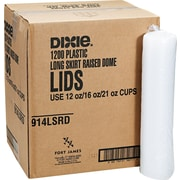 Dixie ® Plastic Lid for Pathways ® 10-16 oz. Cold Cups, Translucent, 1200/Carton