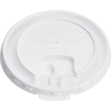 SOLO® Liftback & Lock Tab Lids for Paper Hot Cup, 10 oz., 1000/Carton