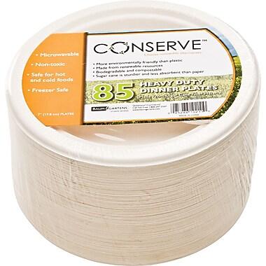 Baumgartens Conserve® White Round Sugarcane Fiber Plates