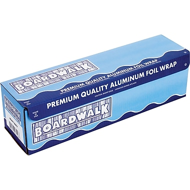 Boardwalk® Heavy-Duty Aluminum Foil Roll, 18in.(W) x 500'(L), Silver