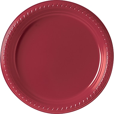 SOLO Plastic Party Plate, 9in., Red, 25/Pack