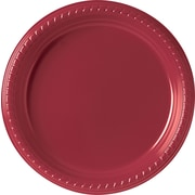 "Solo® Plastic Party Plate, 9"", Red, 500/Carton"