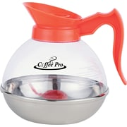 Coffee Pro ® 12 Cup Unbreakable Decaffeinated Coffee Decanter, Stainless Steel/Polycarbonate