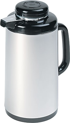 Coffee Maker Glass Lined Carafe : Hormel Vacuum Glass Lined Mirror Finish Stainless Steel Coffee Carafe , 1 Liters Staples