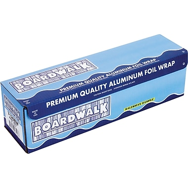 Boardwalk® Heavy-Duty Aluminum Foil Roll, 18in.(W) x 1000'(L), Silver