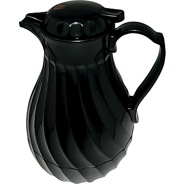 Hormel Swirl Design Poly Lined Coffee Carafe , 40 oz. , Black