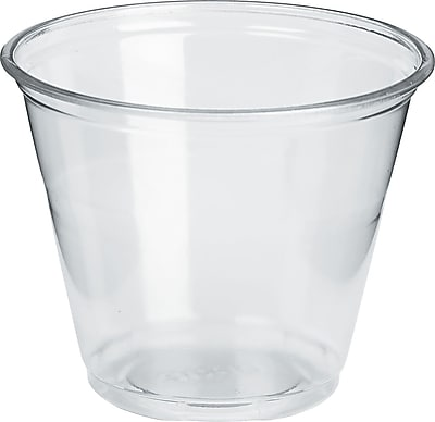 Dixie 9 oz. Regular Size Clear Plastic PETE Cold Cup 1000/Carton (DXECP9) 674276