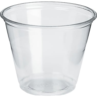 Dixie 9 oz. Regular Size Clear Plastic PETE Cold Cup 1000/Carton (DXECP9)