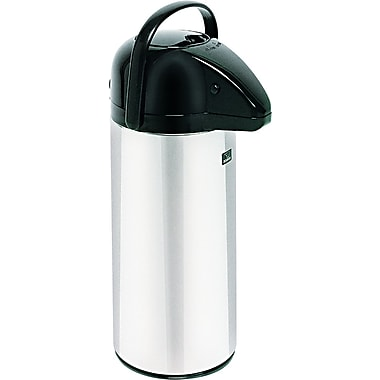 Bunn® Pushbutton Airpot, 2.2 Liters, Stainless Steel