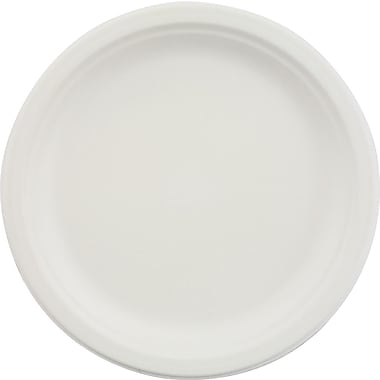 Chinet® Classic Disposable Round Paper Shallow Plate, 9in.(Dia), White, 500/Carton
