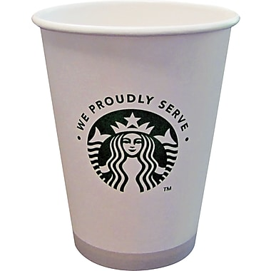 Starbucks ® Paper Hot Cup, 12 oz., White/Green, 1000/Carton